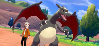 Grey Shiny Charizard in Pokemon Sword/Shield
