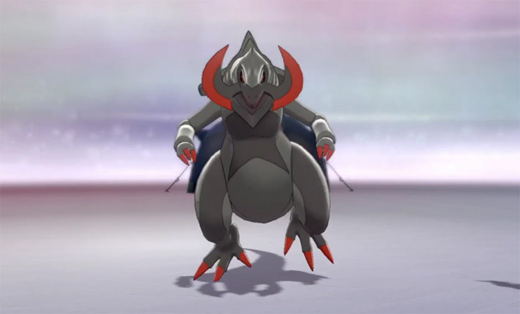 Grey-Colored Shiny Haxorus Pokémon Camp