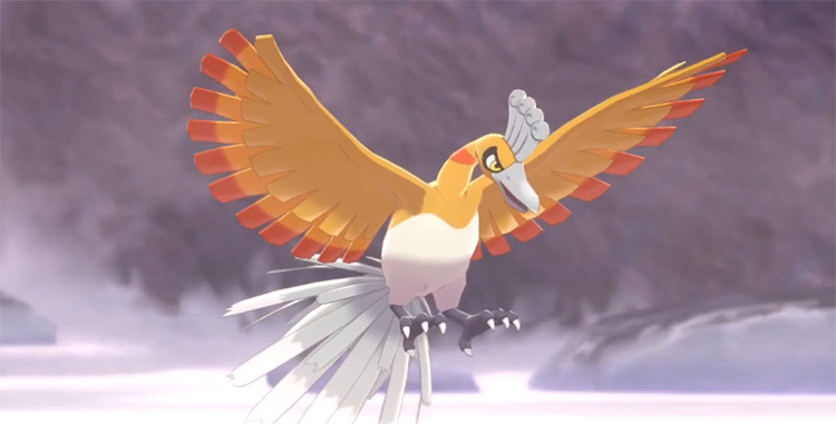 Shiny Ho-Oh in Pokémon SWSH