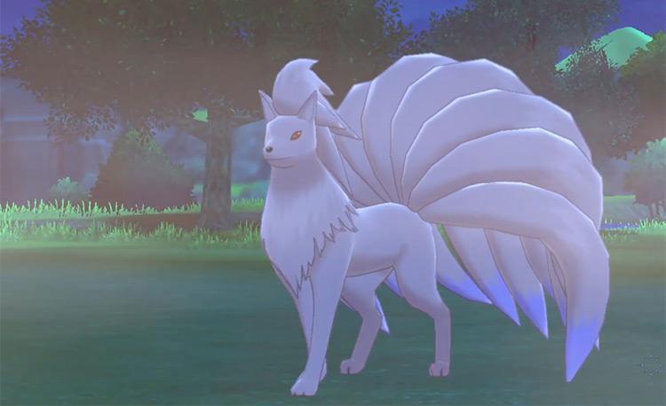 Shiny Ninetails from Pokémon Sword and Shield