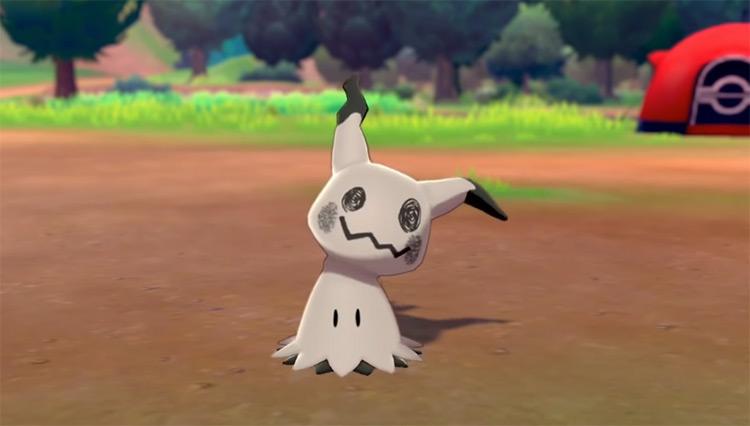 Shiny Mimikyu in Pokémon Camp SWSH