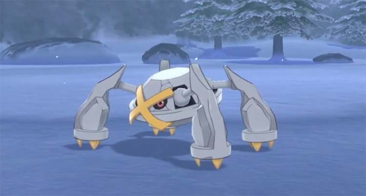 Shiny Metagross in Pokémon Sword and Shield