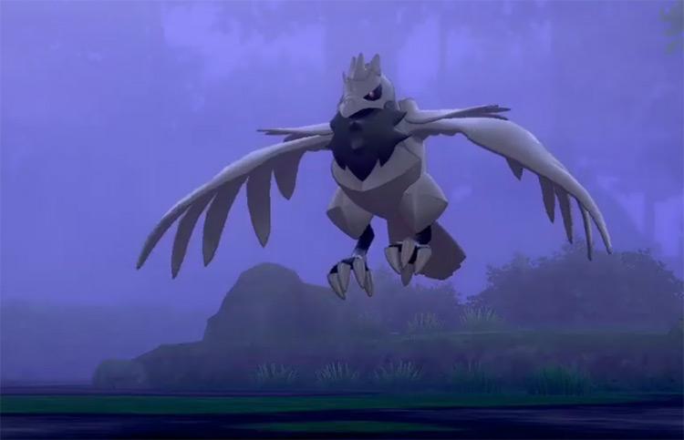 Grey-Colored Shiny Corviknight Pokémon