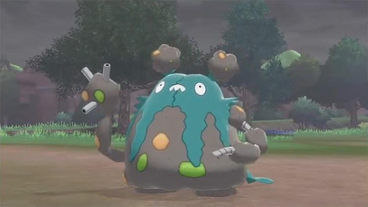 Shiny Garbodor in Pokémon Sword and Shield