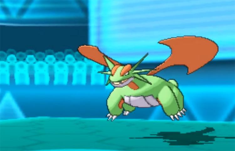 Shiny Salamence in Pokémon ORAS