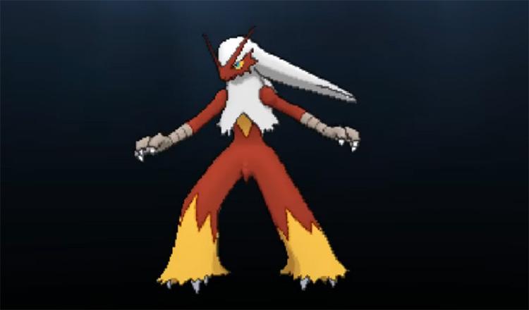 Shiny Blaziken from Pokémon Omega Ruby and Alpha Sapphire