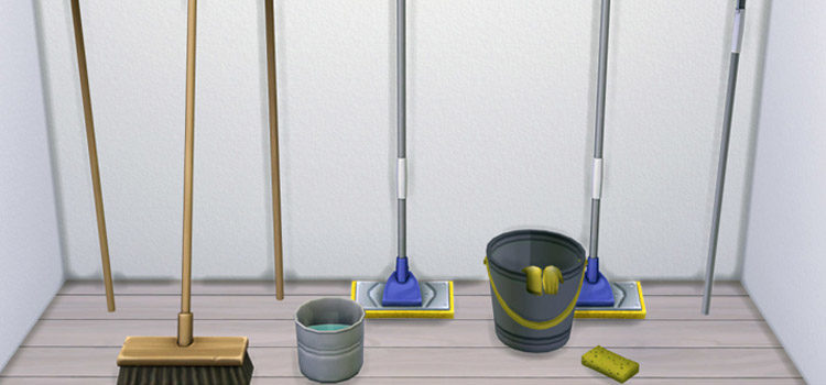 Sims 4 Cleaning Supplies CC, Clutter & Mods
