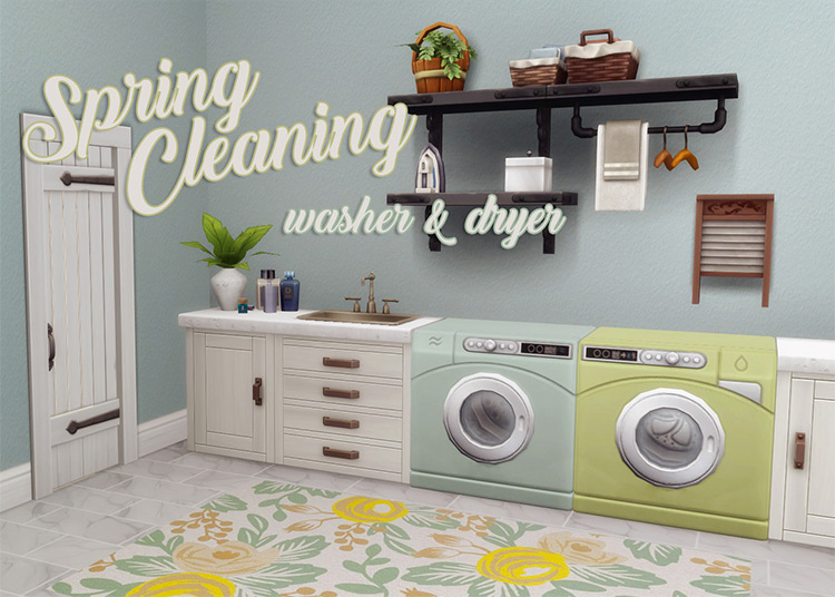 Spring Cleaning Washer & Dryer for Sims 4