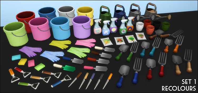 Clutter Crazy - Garden, Kitchen, and Cleaning TS4 CC