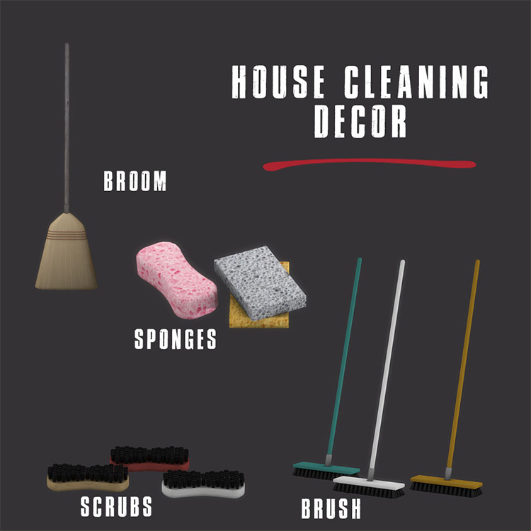 House Cleaning CC Sims 4 CC