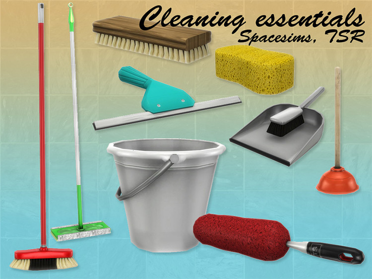 Cleaning Essentials Set TS4 CC