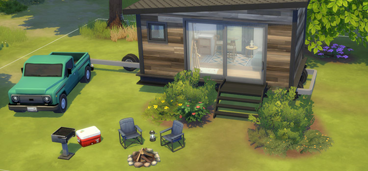 Tiny House Off-Grid Design / Sims 4 Build