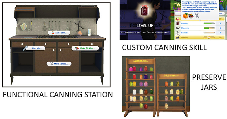 Functional Canning Station + Canning Skill in Sims 4