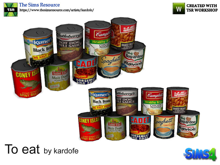 Canned Food Stuff / Sims 4 CC