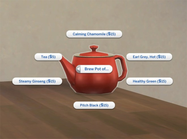 Off the Grid Teapot for Sims 4