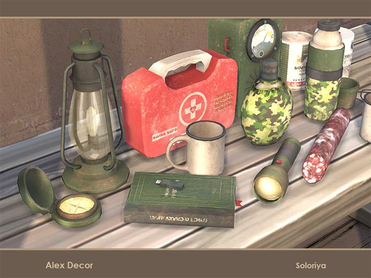 Alex Decor Set / Sims 4 CC