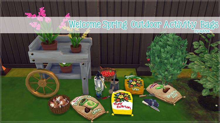 Custom Outdoor Bags / Sims 4 CC