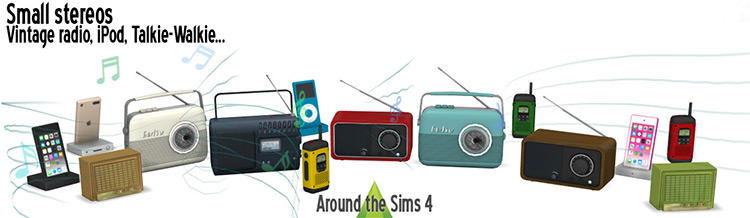 Small Stereos / Sims 4 CC