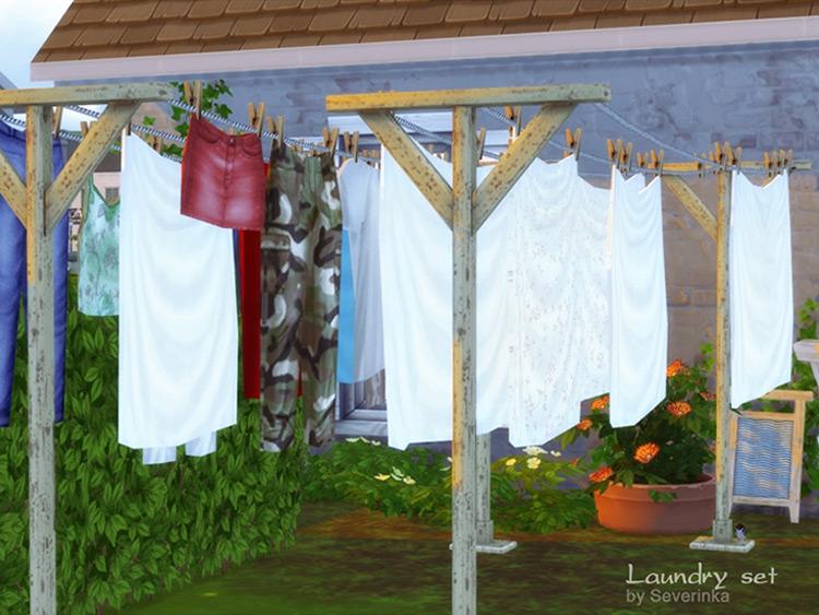 Custom Laundry CC Set for The Sims 4