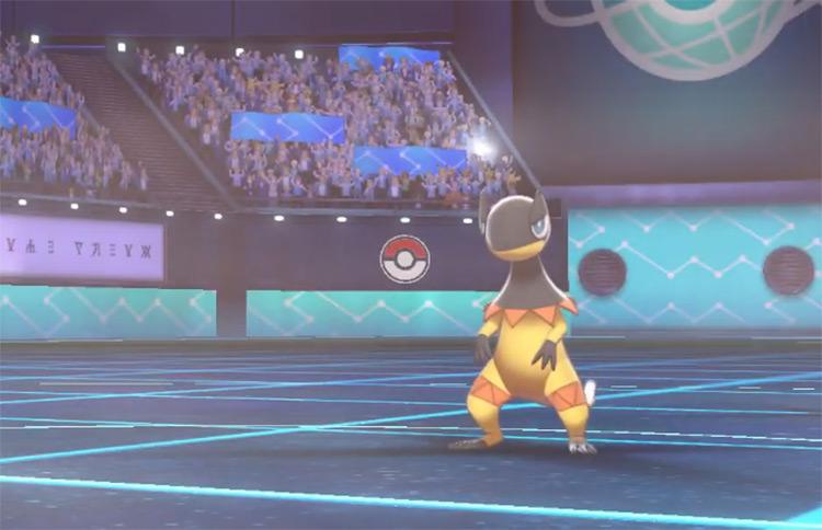 Heliolisk from Pokémon SWSH battle