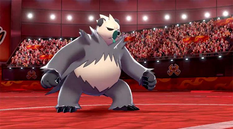 Pangoro in Pokémon SWSH battle