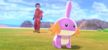 Purple shiny Mudkip in Pokémon Shield