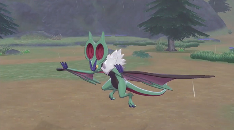 Green Shiny Noivern in Pokémon Sword and Shield