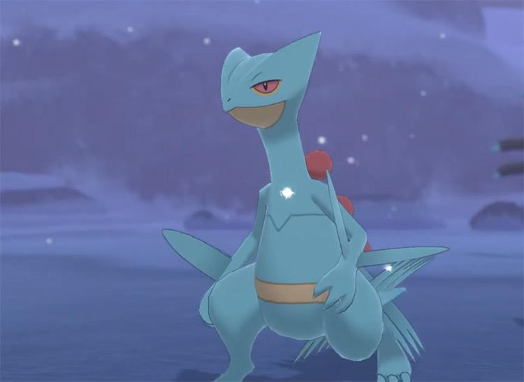 Shiny Sceptile in Pokémon Sword and Shield