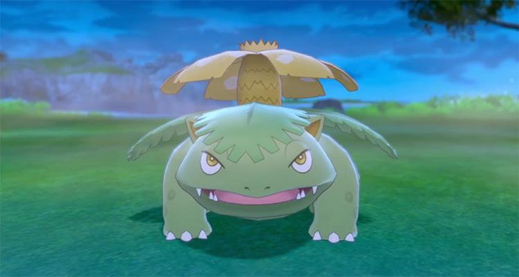 Shiny Venusaur in Pokémon Sword and Shield