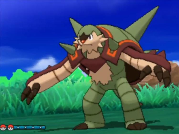Shiny Chesnaught from Pokémon Ultra Sun and Ultra Moon