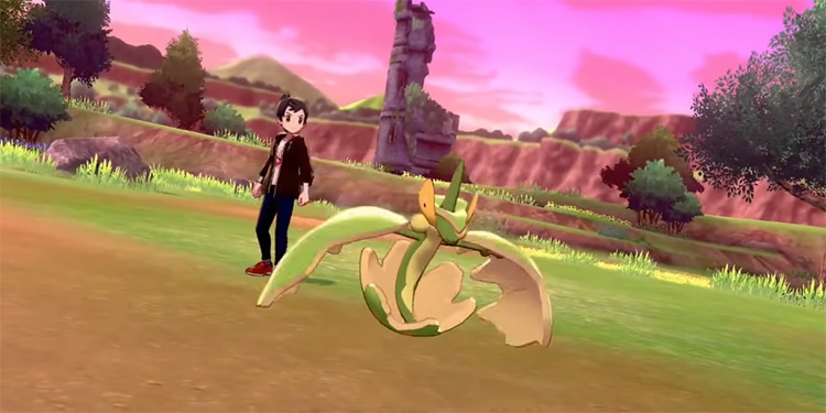 Shiny Flapple from Pokémon Sword and Shield