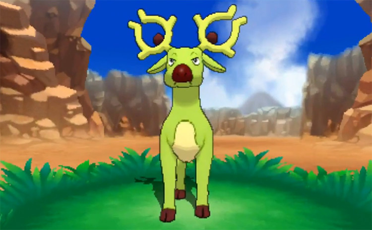 Shiny Stantler in Pokémon Omega Ruby and Alpha Sapphire