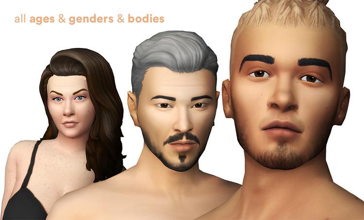 Luumia's Vanilla Skin Sims4