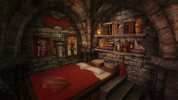 The Rookery – Bard and Thief Loft Skyrim mod