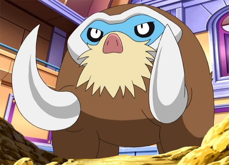 Mamoswine in Pokemon Anime