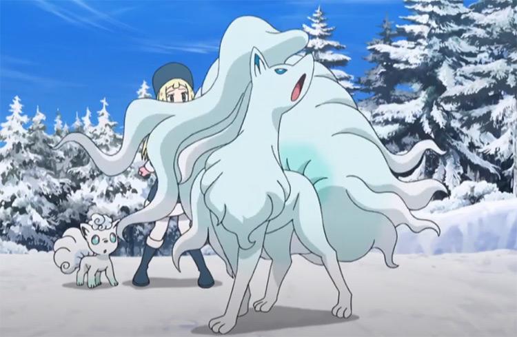 Alolan Ninetales in Pokemon Anime