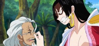 Boa Hancock anime girl squeezing nose