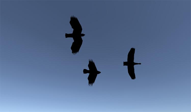 Birds in Daggerfall Unity mod