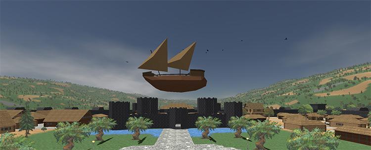Airships Daggerfall Unity mod
