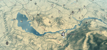 Skyrim Quality World map UI mod preview