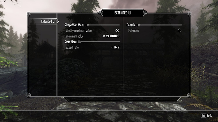 Extended UI Skyrim mod