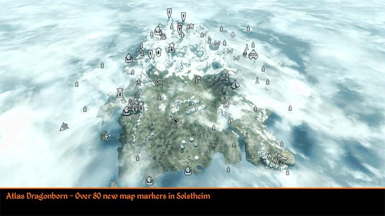 Atlas Map Markers Skyrim mod
