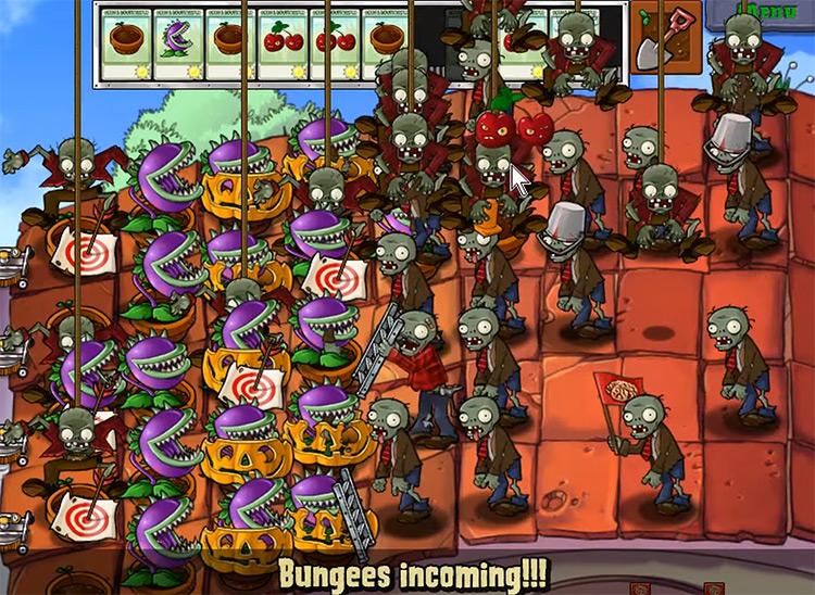 Plants vs. Zombies gameplay screenshot