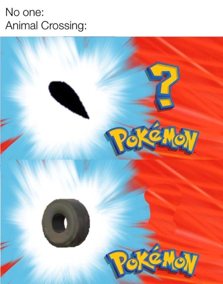 Whose that Pokemon Animal Crossing fishing meme