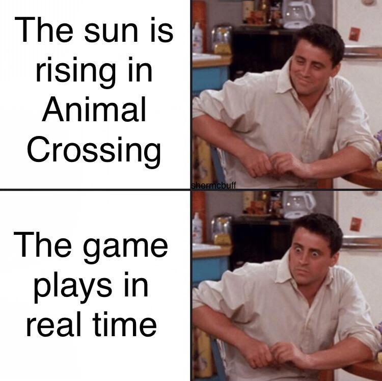 Sun is rising AC meme