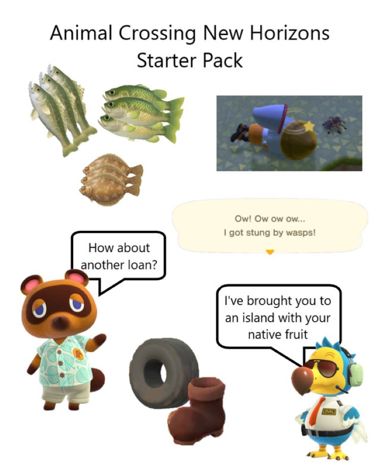 AC New Horizon starter pack meme