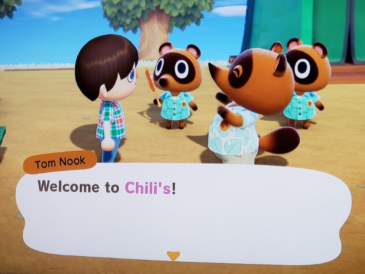 Tom Nook welcome to Chilis