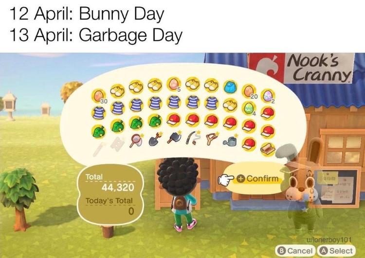 Garbage day meme
