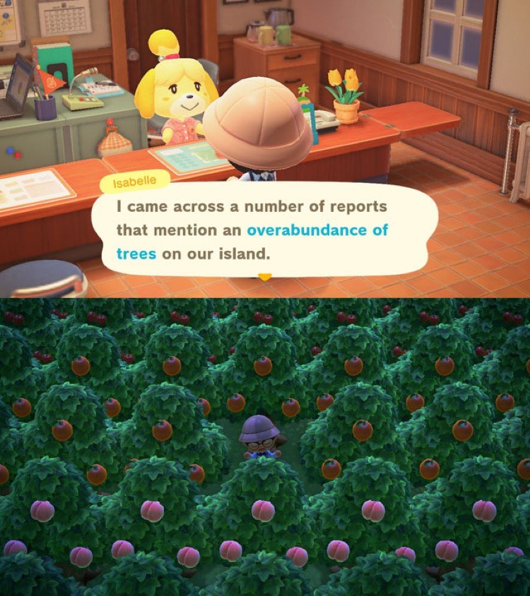 Planting too many trees animal crossing