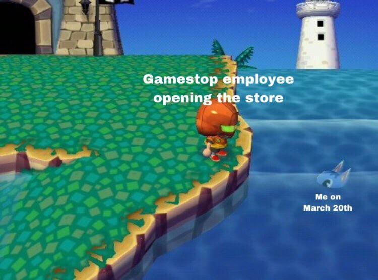Gamestop joke in AC screenshot